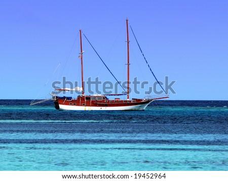 Vessel in Maldives - stock photo