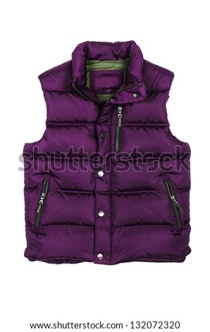 Vest isolated on the white background - stock photo