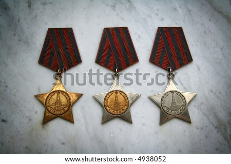 Veteran military medals - stock photo