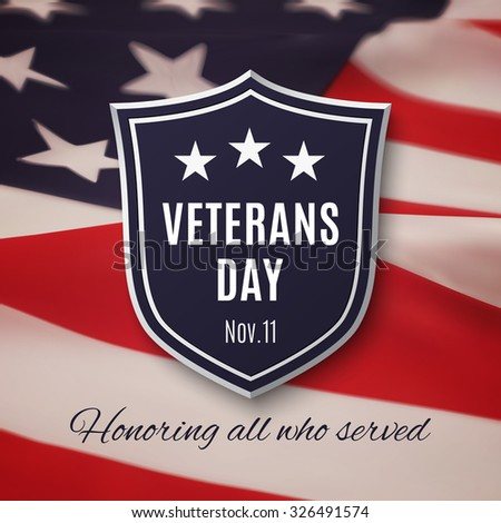 Veterans day background. - stock photo