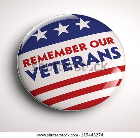 Veterans Day button - stock photo