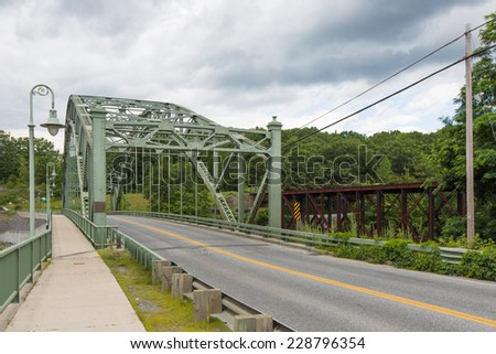 Veterans memorial bridge Vermont, USA - stock photo