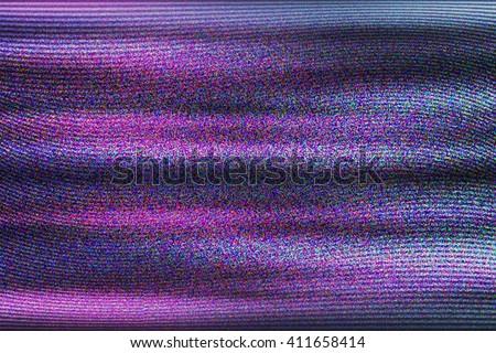 VHS Glitch Violet Texture - stock photo