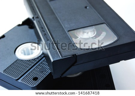 vhs tapes isolated