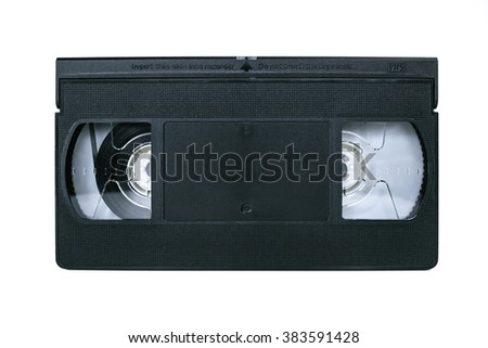 VHS Video Cassette isolated on white - stock photo