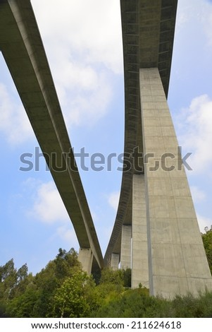 Viaduct high altitude for traffic. - stock photo