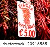 Viagra naturale, big bunch of red hot chilli pepper outdoors - stock photo