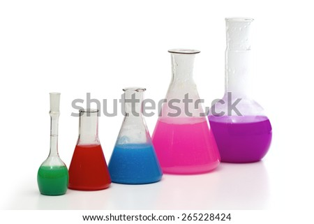 Vial for solutions on the white background - stock photo
