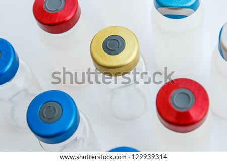 vial is cover a wide range of colors - stock photo