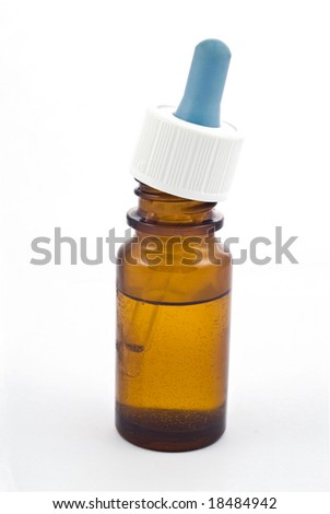 vial of nasal drops isolated on white