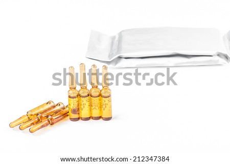 Vials of medications with Seal pakage - stock photo