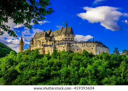 Vianden castle in a summer day, Luxembourg
