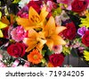 Vibrant and colorful bouquet of flowers - stock photo
