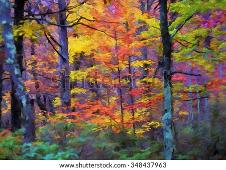 Paintings For Bright Colorful Landscape