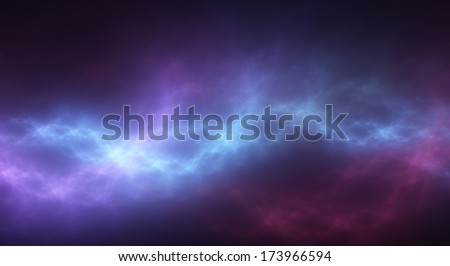 Vibrant backdrop of flowing blue light - stock photo
