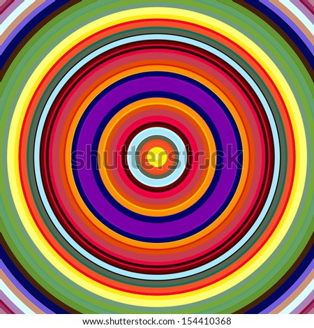 Vibrant bold color circles pattern illustration. - stock photo