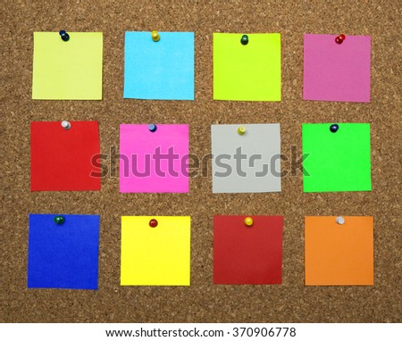Vibrant Color Adhesive Note,office Supply,Label,Tag,Reminder,Pad - stock photo