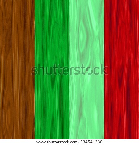 Vibrant colorful wooden fence or wall background with each plank a different colour