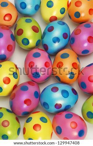 Vibrant Easter Egg background - stock photo