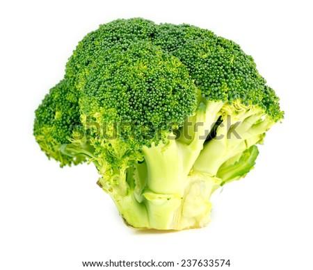 Vibrant green broccoli vegetable - stock photo