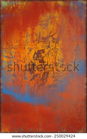 Vibrant Grungy Metal Background with Rusty Seams Along Edges (Part of Colorful Metal Textures set, which includes 12 textures that fit together perfectly to form a huge image) - stock photo
