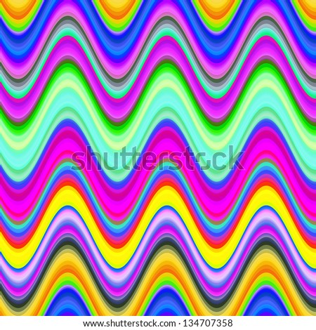 Vibrant multicolored digital waves illustration. - stock photo