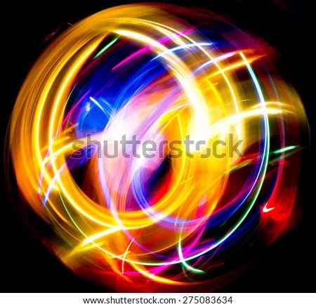 Vibrant Music Vivid Wallpaper  - stock photo