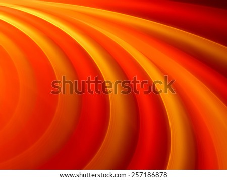 Vibrant orange curves, technology, computer generated abstract background - stock photo
