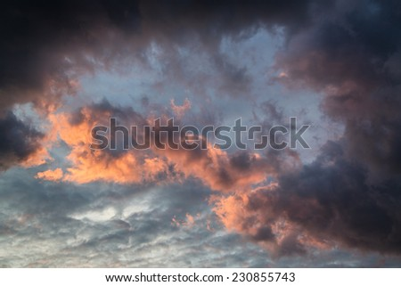 Vibrant stormy cloud formation