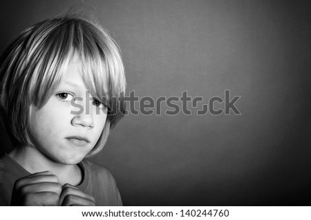 Victim of child abuse - stock photo
