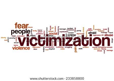 Victimization word cloud concept - stock photo
