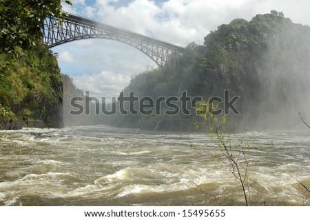 Victoria Falls bridge - stock photo