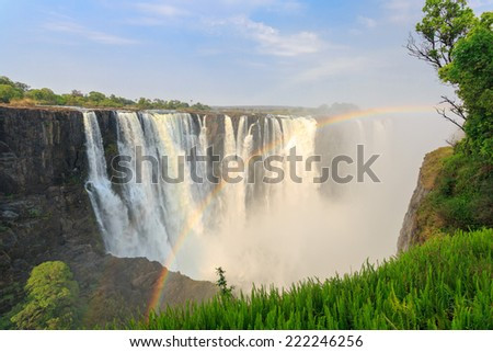 Waterfalls in africa victoria falls best waterfall 2017 knife edge bridge at the victoria falls waterfall zambia africa publicscrutiny Images