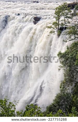 Victoria falls, Zambia - stock photo