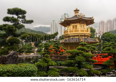 Victoria harbor in Hong Kong - stock photo