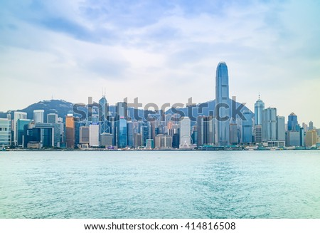 Victoria harbour, Hong Kong, China
