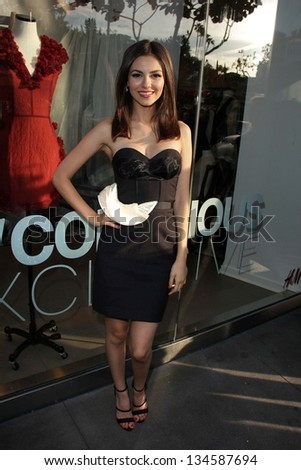 Victoria Justice at H&M's Conscious Exclusive Collection Launch Party, H&M, West Hollywood, CA 04-04-13