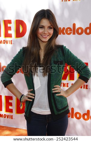 """Victoria Justice at the Los Angeles Premiere of """"Fred: The Movie"""" held at the Paramount Pictures Studios in Hollywood, California, United States on September 11, 2010.  - stock photo"""