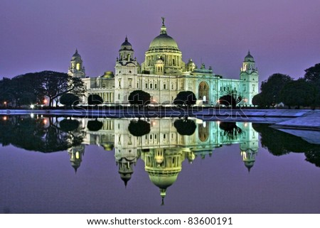 Victoria Memorial in the evening, Kolkata, India