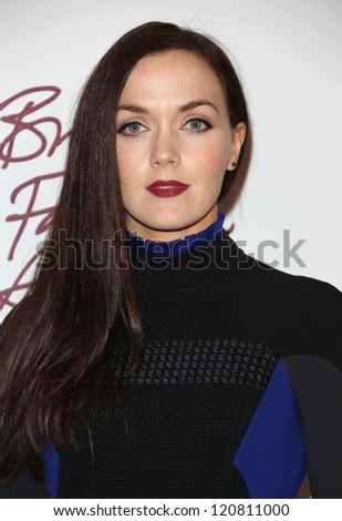 Victoria Pendleton arriving for The British Fashion Awards 2012 held at The Savoy, London. 27/11/2012 Picture by: Henry Harris - stock photo