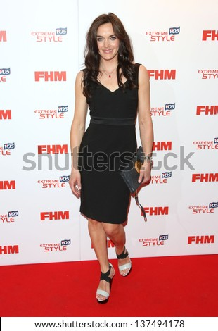 Victoria Pendleton arriving for the FHM 100 Sexiest Women in the World 2013 party at the Sanderson Hotel, London. 01/05/2013 - stock photo