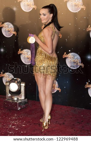 Victoria Pendleton arriving for the Strictly Come Dancing 2012 Launch, Television Centre, London. 11/09/2012 Picture by: Simon Burchell - stock photo