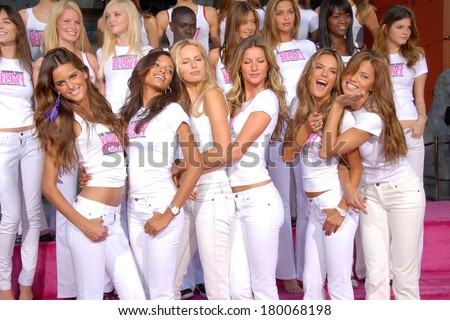 Victoria's Secret Models at the press conference for Victoria's Secret Models Get Key to the City of Hollywood, Grauman's Chinese Theatre, Los Angeles, November 15, 2006 - stock photo