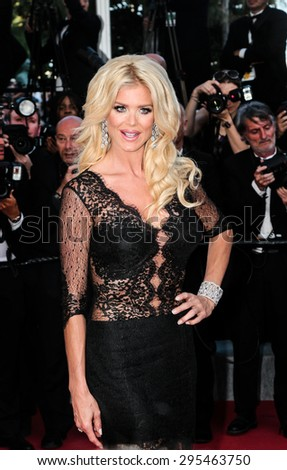 Victoria Silvstedt attends the 'Carol' premiere during the 68th annual Cannes Film Festival on May 17, 2015 in Cannes, France. - stock photo