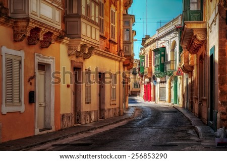 Victoria town on Maltese island Gozo. - stock photo