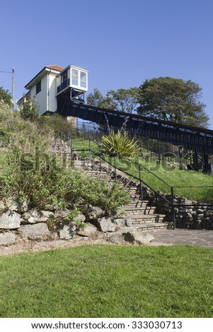 Victorian Cliff Lift at Southend-on-Sea, Essex, England