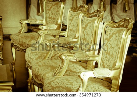 Victorian Furniture And Part Of Interior Vintage Effect
