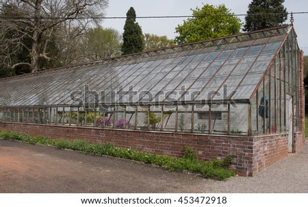 Victorian Greenhouse at Tyntesfield in the Rural Village of Wraxall in Somerset, England, UK - stock photo