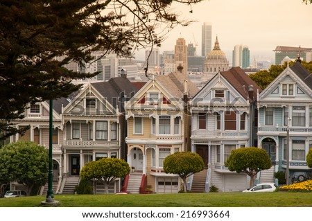 Victorian house in San Francisco - stock photo