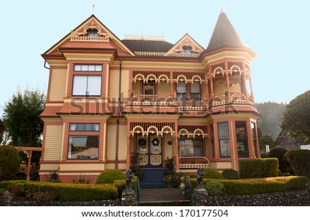 Victorian Mansion - stock photo